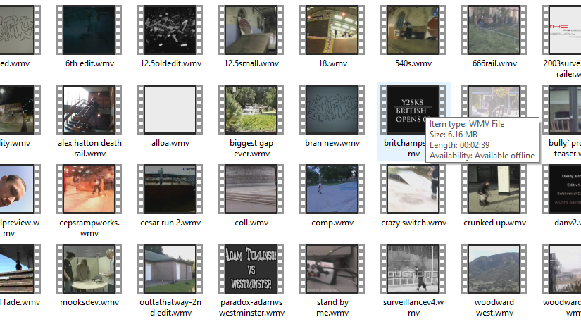 UKSkate video archive